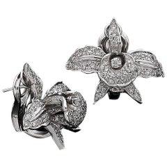 Diamonds and 18 Karat Gold Earrings with 1,5 Carat Diamonds