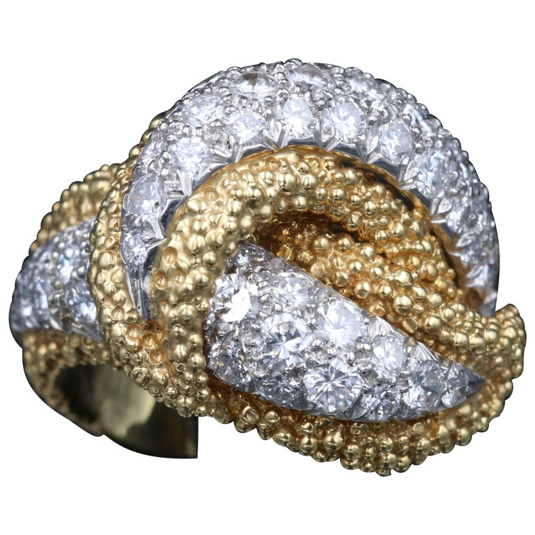 Gold, Platinum and Diamonds Tiffany & Co. Ring