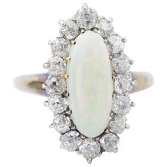 Victorian Diamond and Opal Ring