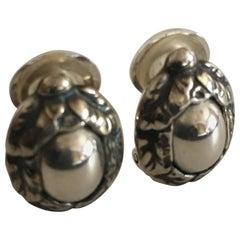 Georg Jensen Sterling Silver 1997 Annual Earrings