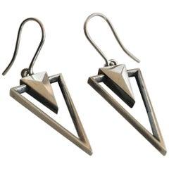 Georg Jensen Sterling Silver Earrings No. 569A