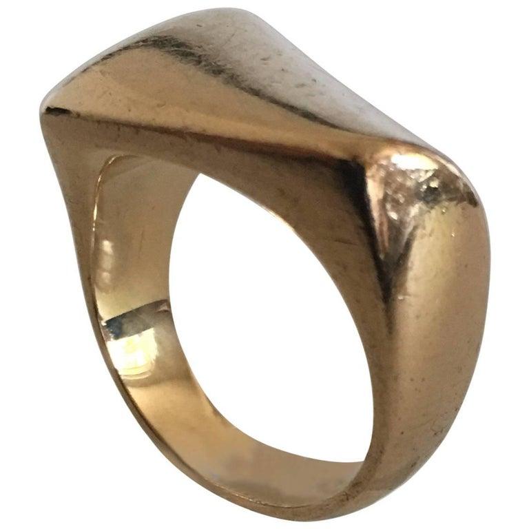 Avansert Georg Jensen 18 Karat Gold Ring No. 1141 For Sale at 1stdibs ZM-01
