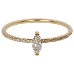 Sweet Pea 18k Yellow Gold Marquise Diamond Engagement Ring