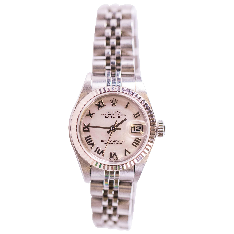 Rolex Ladies 18K Gold Datejust Automatic Wristwatch, 2004