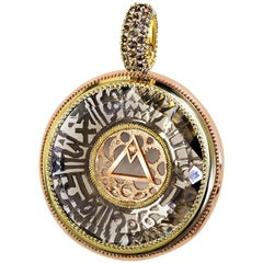 Alex Soldier Smoky Topaz Diamond Gold Talisman Pendant Necklace Enhancer