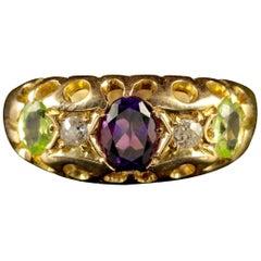 Antique 18 Carat Gold Victorian Suffragette Ring, circa 1900