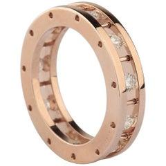 18 Karat Rose Gold, 0.93 Round Diamonds Band Ring
