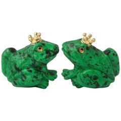 Michael Kanners Crowned Frog Cufflinks