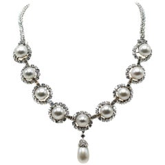 Van Cleef & Arpels South Sea Pearl Diamond Drop Necklace