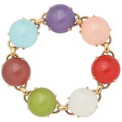 18 Karat Rose Gold Semi-Precious Stone Doublet Bracelet