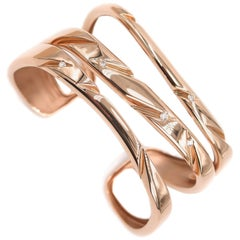 """Cuts"" Wide Rose Gold Cuff Bracelet by Mattioli"