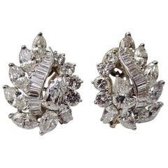 Oscar Heyman Diamond and Platinum Earrings