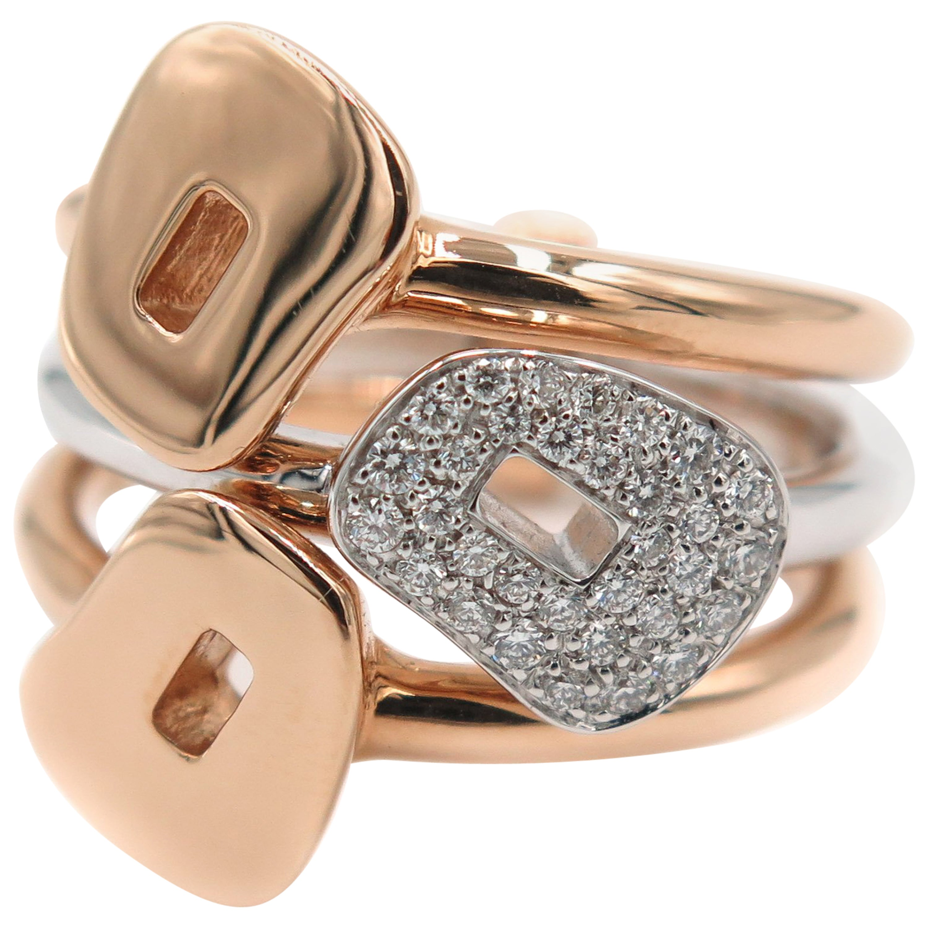 Rose Gold Puzzle Ring by Mattioli