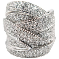 White Gold Maldamore Diamond Pave Ring