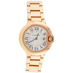 Cartier Ladies Ballon Bleu Pink Gold quartz Wristwatch