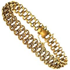 Antique Diamond 18 Karat Yellow Gold Bracelet