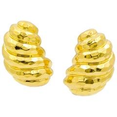 18 Karat Yellow Gold Hoop Earrings