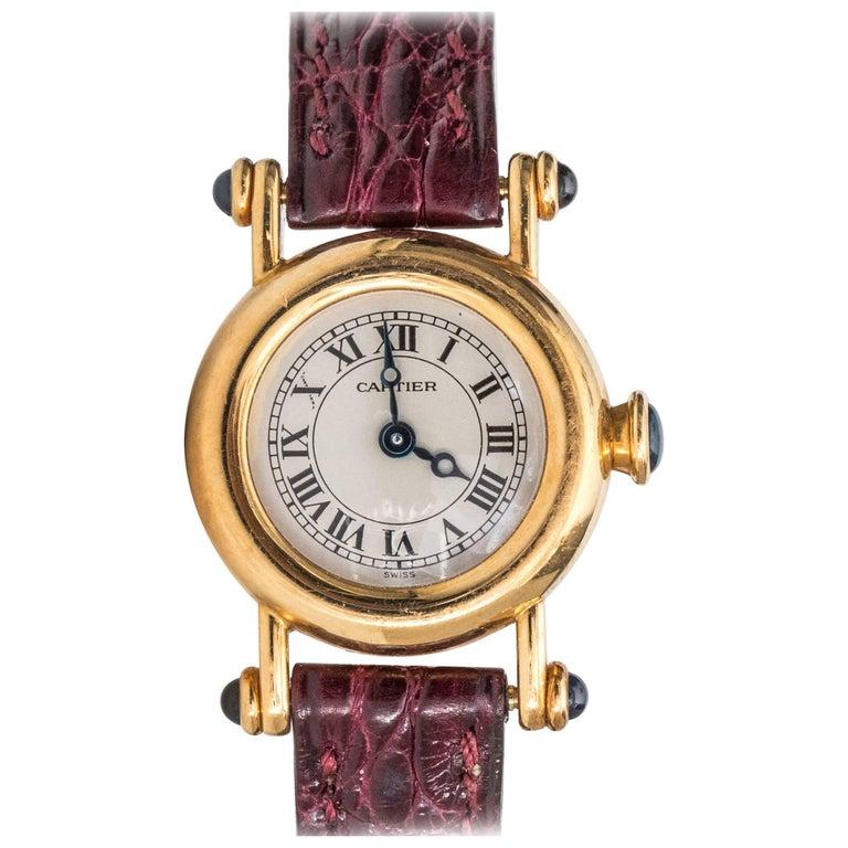 Cartier Diabolo 18 Karat Yellow Gold Quartz Wristwatch, 1980s