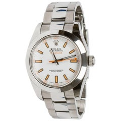 Rolex Stainless Steel Milgauss Oyster Perpetual Wristwatch