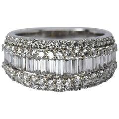 Diamond Cluster Ring 18 Karat