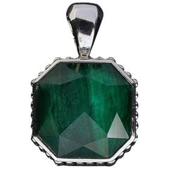 Lagos Malachite Doublet Color Rocks Sterling Silver Pendant