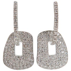 Diamond Pave Puzzle Earrings
