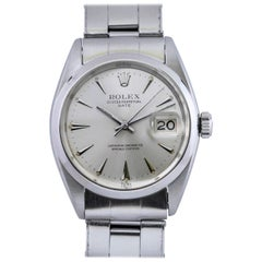 Rolex Stainless Steel Date Automatic Wristwatch Ref 1500, circa 1961