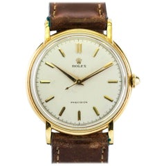 Rolex Yellow Gold Precision Manual Wind Wristwatch Ref 4222, circa 1950s