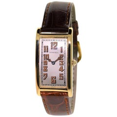 Tiffany & Co. Yellow Gold Art Deco International Watch Co. Rectangle Watch