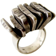 Rey Urban for A. Fausing Sterling Silver Scandinavian Street Style Ring