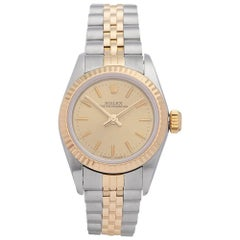 Rolex Ladies Yellow Gold Stainless Steel Datejust Automatic Wristwatch Ref 67193