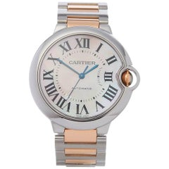 Cartier Ladies Yellow Gold Stainless Steel Ballon Bleu Automatic Wristwatch