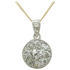 1900s Diamond and Yellow Gold Platinum Set Pendant