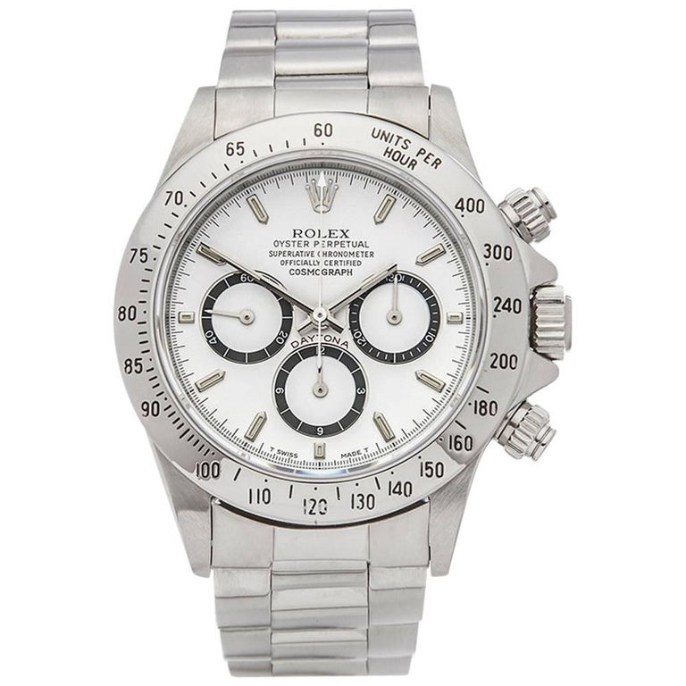 Rolex Stainless Steel Daytona Inverted Six Automatic Wristwatch Ref 16520, 1991