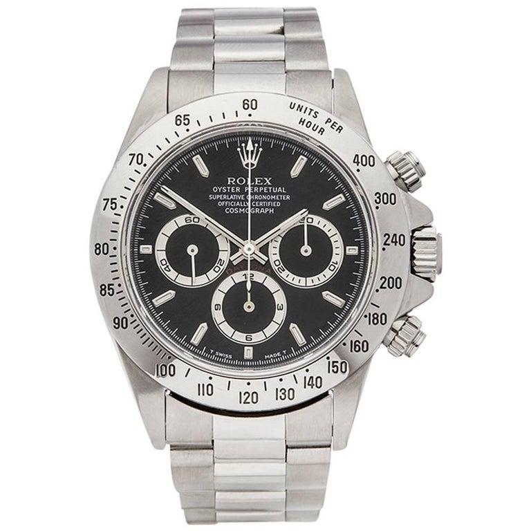 Rolex Stainless Steel Daytona Automatic Wristwatch Ref 16520, 1998