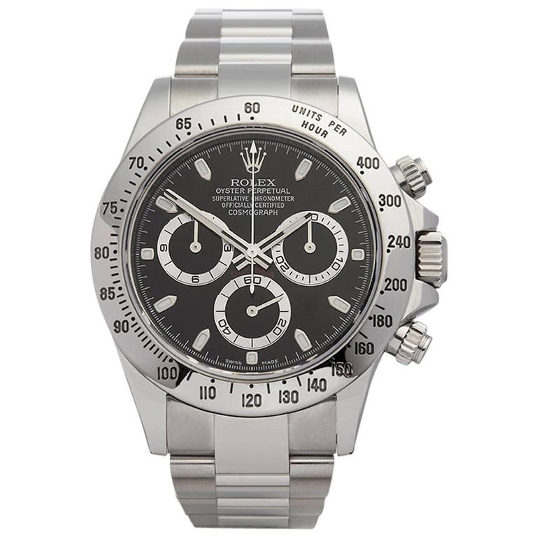 Rolex Stainless Steel Daytona Automatic Wristwatch Ref W4406