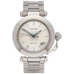 Cartier Stainless Steel Pasha De Cartier Automatic Wristwatch Ref 1031