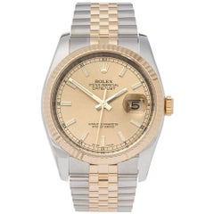 Rolex Yellow Gold Stainless Steel Datejust Automatic Wristwatch Ref 116233, 2008
