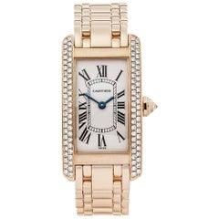 Cartier Ladies Yellow Gold Tank Americaine Quartz Wristwatch Ref W4442, 2000s