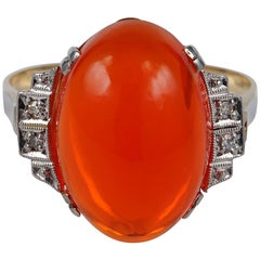 Art Deco 10.0 Carat Natural Fire Opal