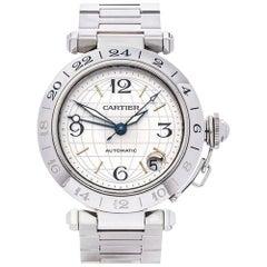 Cartier Stainless Steel Pasha De Cartier Automatic Wristwatch Ref 2377
