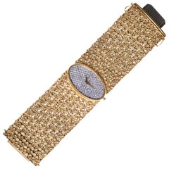 1970s Chopard Yellow Gold Diamond Bracelet Wristwatch