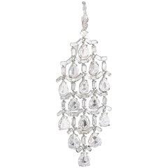 Pear and Baguette-Cut Diamond Chandelier Earrings