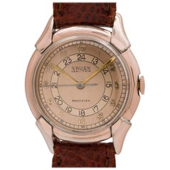 Gruen Rose Gold and Gold Filled Pan American Manual Wristwatch, circa 1940s