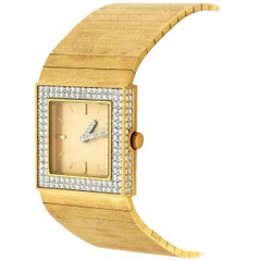 Paul Binder Yellow Gold Diamond One-of-a-Kind Wristwatch
