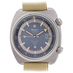 Wyler stainless steel Diver 660 Dynawind Wristwatch, circa 1960s