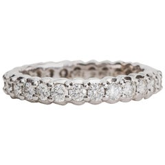Paul Morelli 1.5 carat total Diamond and 18K White Gold Eternity Band