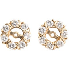 Diamond and 14 Karat Yellow Gold Earring Jackets