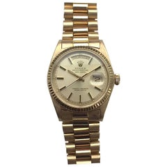 Rolex 18K Yellow Gold Champagne Dial Day-Date President Automatic Wristwatch