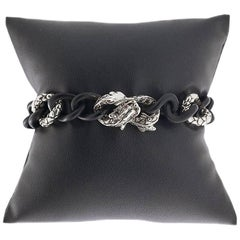 John Hardy Ruby Naga Dragon Sterling Silver Bracelet